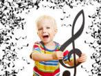 Kinderlieder: Kind mit Note